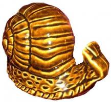 Gros escargot en grès pour déco jardin ou autre (couleur brun miel)